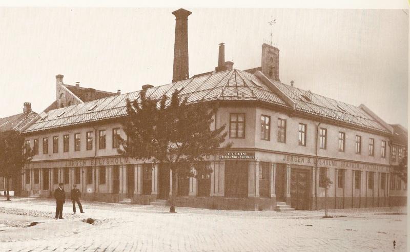 Lysholms brenneri i Olav Tryggvasonsgate 26, cirka 1880.